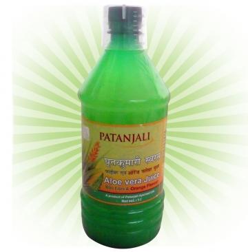 Patanjali Aloe Vera Juice  Orange Flavour - 1 litre