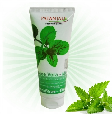 Patanjali Aloe Vera With Mint Fash Wash - 60gms