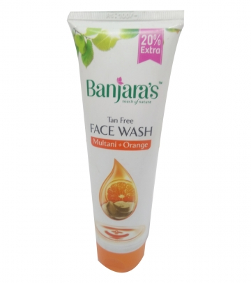 Banjaras Face wash Multani and Orange 120g