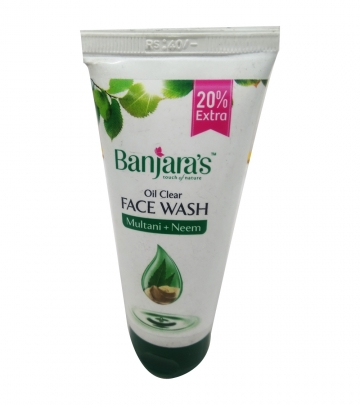 Banjaras Oil clear - Face wash - Multani and Neem 60 ml
