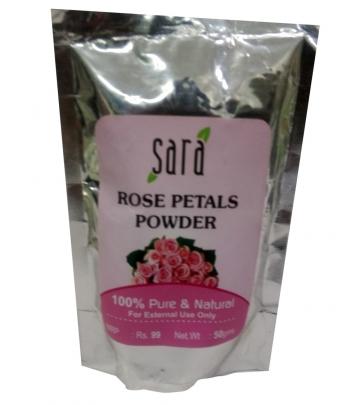 Sara Face Pack Rose Petals Powder 50g
