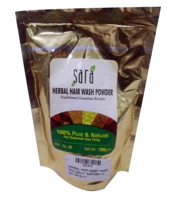 Sara Herbal Hair wash Powder 100 g