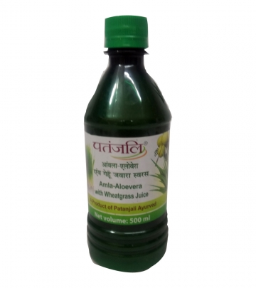 Patanjali Amla-Aloe vera with wheat grass juice 500 ml