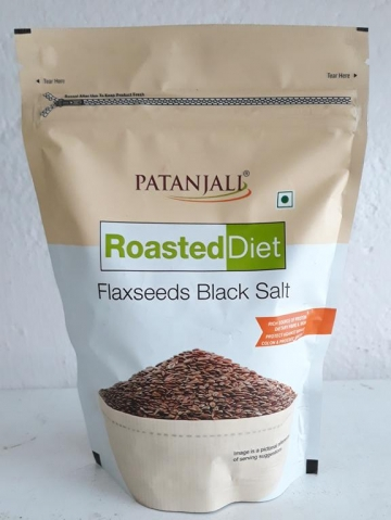 Patanjali Roasted Diet Flaxseeds Black Salt 150 gms