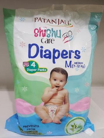 Patanjali   Shishu Care Diapers m  7-12 kg