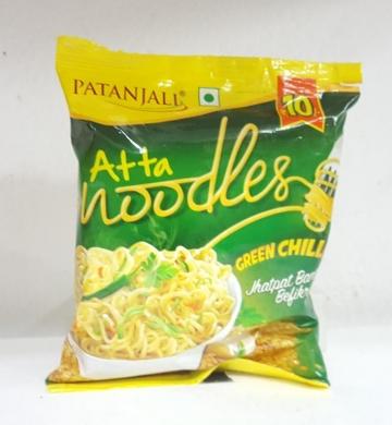 Patanjali  Atta Noodles-Green Chill