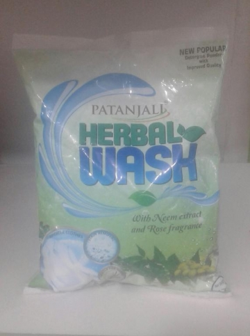 Patanjali   popular Detergent Powder Herbal Wash   500 gm